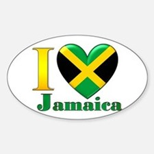 I love Jamaica Sticker (Oval)