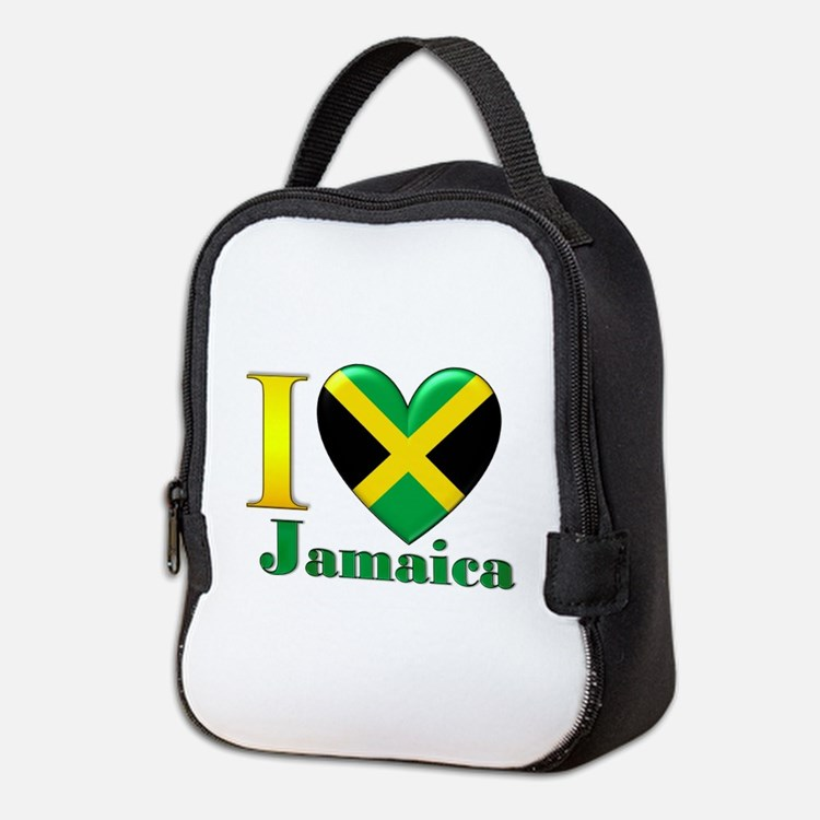 I love Jamaica Neoprene Lunch Bag