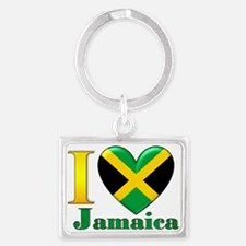 I love Jamaica Landscape Keychain