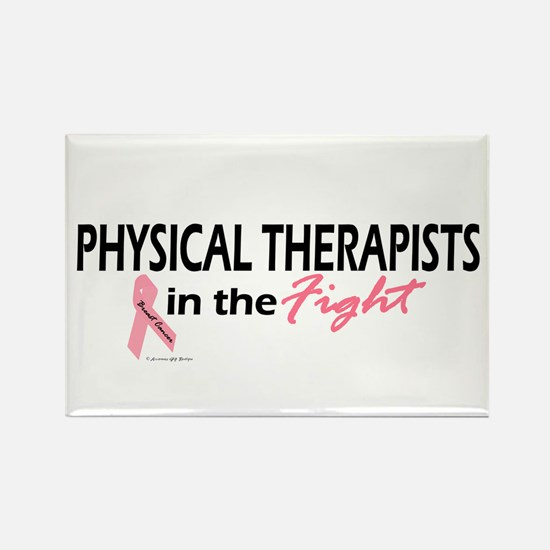Physical Therapists In The Fight Rectangle Magnet