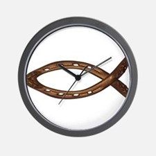 horse shoe FISH Wall Clock