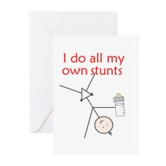 STUNT BABY Greeting Cards (Pk of 20)