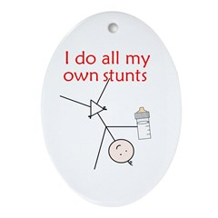 STUNT BABY Oval Ornament