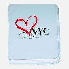 LOVE NYC FANCY baby blanket