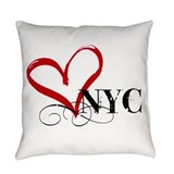 New york city Burlap Pillows