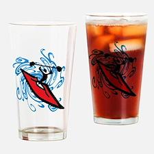 Cute Kayak Drinking Glass