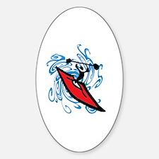 Unique Kayaking Sticker (Oval)