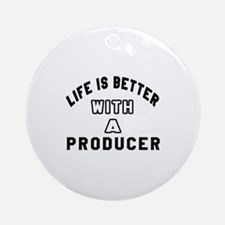 Producer Designs Round Ornament