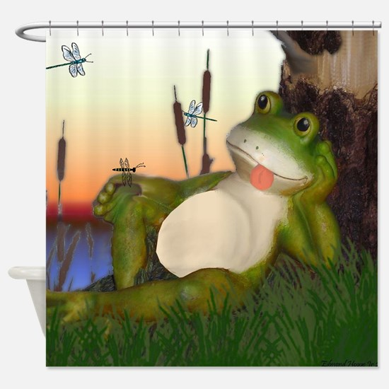 Cool Red eyed tree frog Shower Curtain