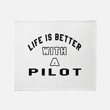 Pilot Designs Throw Blanket