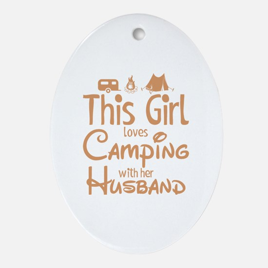 Funny Camper Oval Ornament