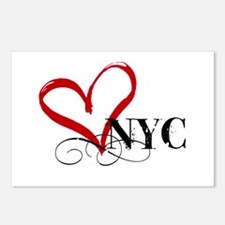 LOVE NYC FANCY Postcards (Package of 8)