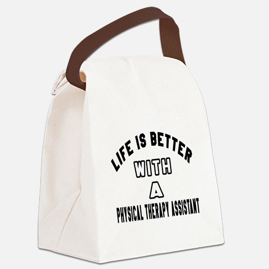 Physical Therapy Assistant Design Canvas Lunch Bag