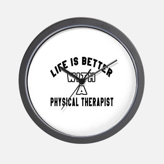 Physical Therapist Designs Wall Clock