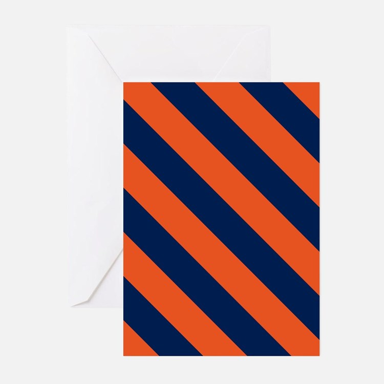 Diagonal Stripes: Orange Greeting Cards (Pk of 10)