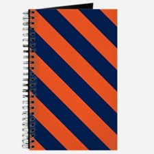 Diagonal Stripes: Orange & Navy Blue Journal