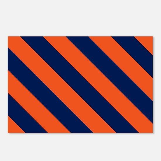 Diagonal Stripes: Orange Postcards (Package of 8)