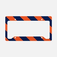 Diagonal Stripes: Orange & Na License Plate Holder