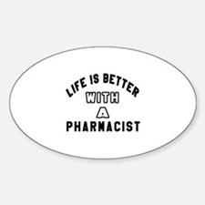 Pharmacist Designs Sticker (Oval)