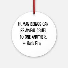 Huck Finn Wisdom Round Ornament