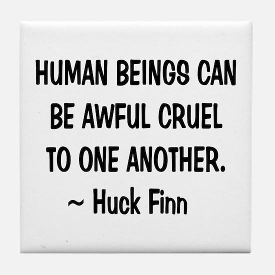 Huck Finn Wisdom Tile Coaster
