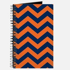 Chevron Pattern: Orange & Navy Blue Zig Za Journal