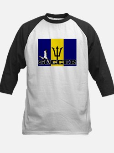 Barbados Flag Soccer Kids Baseball Jersey