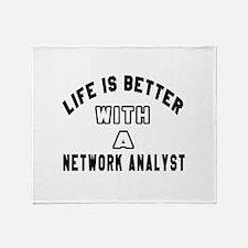 Network Analyst Designs Throw Blanket