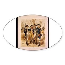Revolutionary War Minutemen Oval Decal