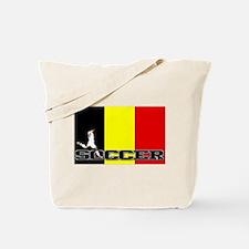 Belgium Flag Soccer Tote Bag