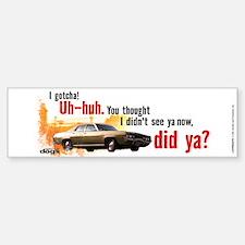 I Gotcha Bumper Car Car Sticker
