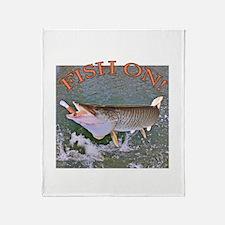 Fish on musky Throw Blanket