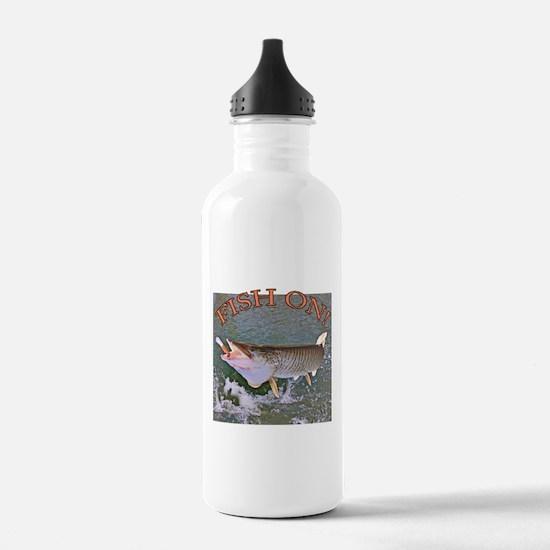 Fish on musky Water Bottle