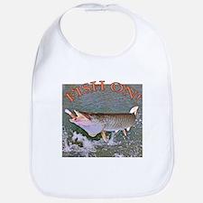 Fish on musky Bib
