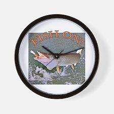 Fish on musky Wall Clock