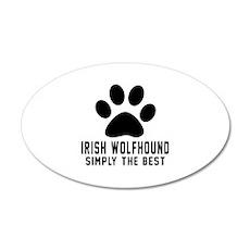 Irish Wolfhound Simply The B Wall Decal
