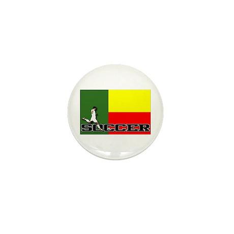 Benin Flag Soccer Mini Button (10 pack)