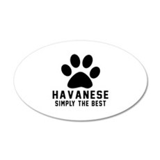 Havanese Simply The Best Wall Decal
