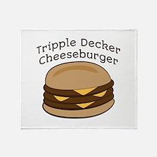 Tripple Decker Burger Throw Blanket