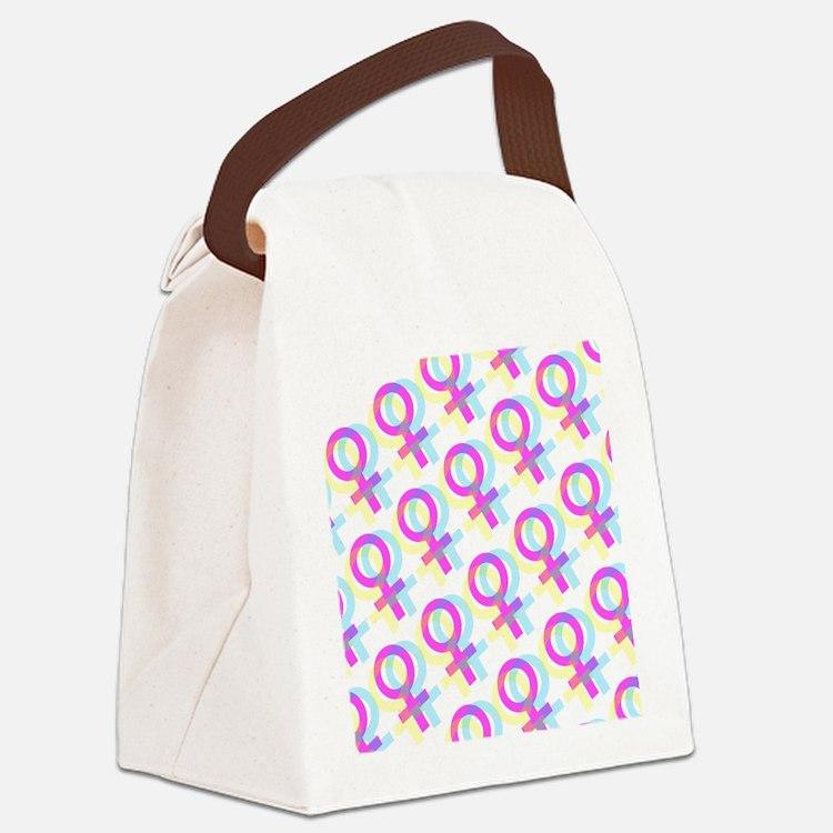 Cute Sapphic Canvas Lunch Bag