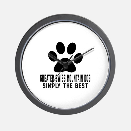 Greater Swiss Mountain Dog Simply The B Wall Clock