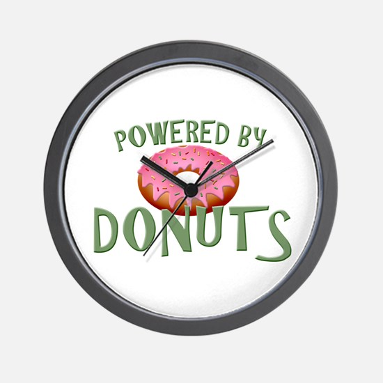 Powered By Donuts Wall Clock