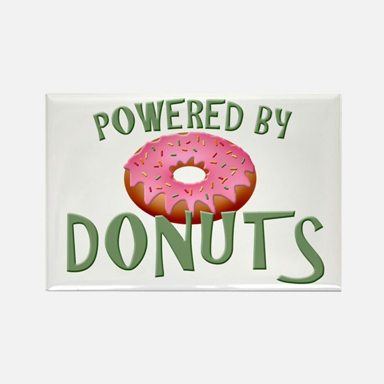 Powered By Donuts Rectangle Magnet