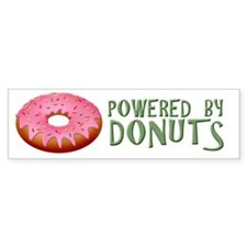 Powered By Donuts Bumper Sticker