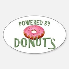Powered By Donuts Sticker (Oval)