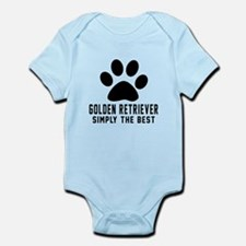 Golden Retriever Simply The Best Infant Bodysuit