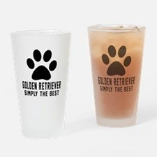 Golden Retriever Simply The Best Drinking Glass