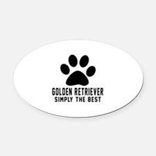 Golden Retriever Simply The Best Oval Car Magnet