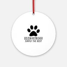 Golden Retriever Simply The Best Round Ornament