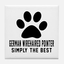 German Wirehaired Pointer Simply The Tile Coaster